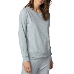 Толстовка женская цвета серый меланж MEY 16964_439