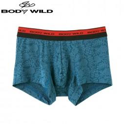 Трусы мужские боксеры-брифы зелено-голубые BODY WILD BWE072J_76