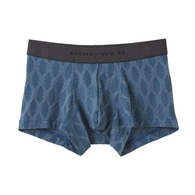Трусы мужские боксеры-брифы серо-голубые BODY WILD BWE079J_96
