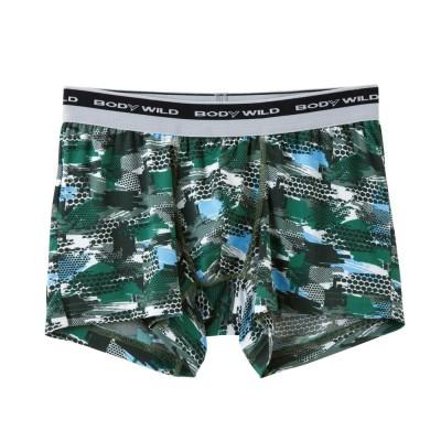 Трусы мужские боксеры-брифы зеленые BODY WILD BWG086J_70