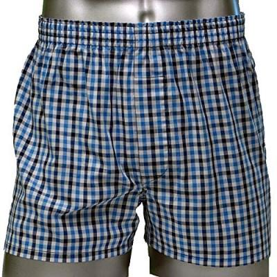 Трусы мужские шорты синие THE GUNZE GH0491_1A_kletka