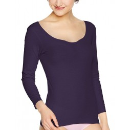 Термофутболка женская фиолетовая бесшовная KIREILABO KL5946_ML