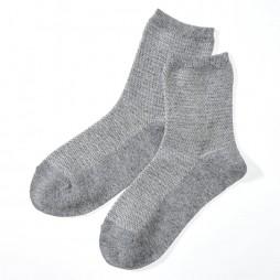 Носки женские серые с ангорой SQL866_477