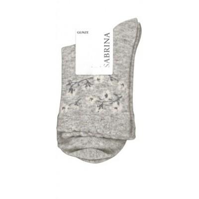 Носки женские молочно-серые с ангорой SABRINA SQL868_477