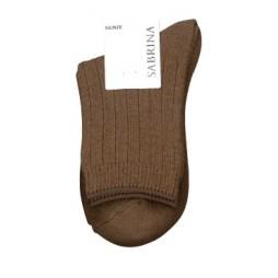 Носки женские коричневые с шерстью SABRINA SQL869_754