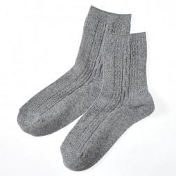 Носки женские серые с ангорой SQL888_477