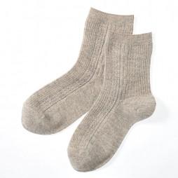 Носки женские светло-коричневые с ангорой SQL888_485